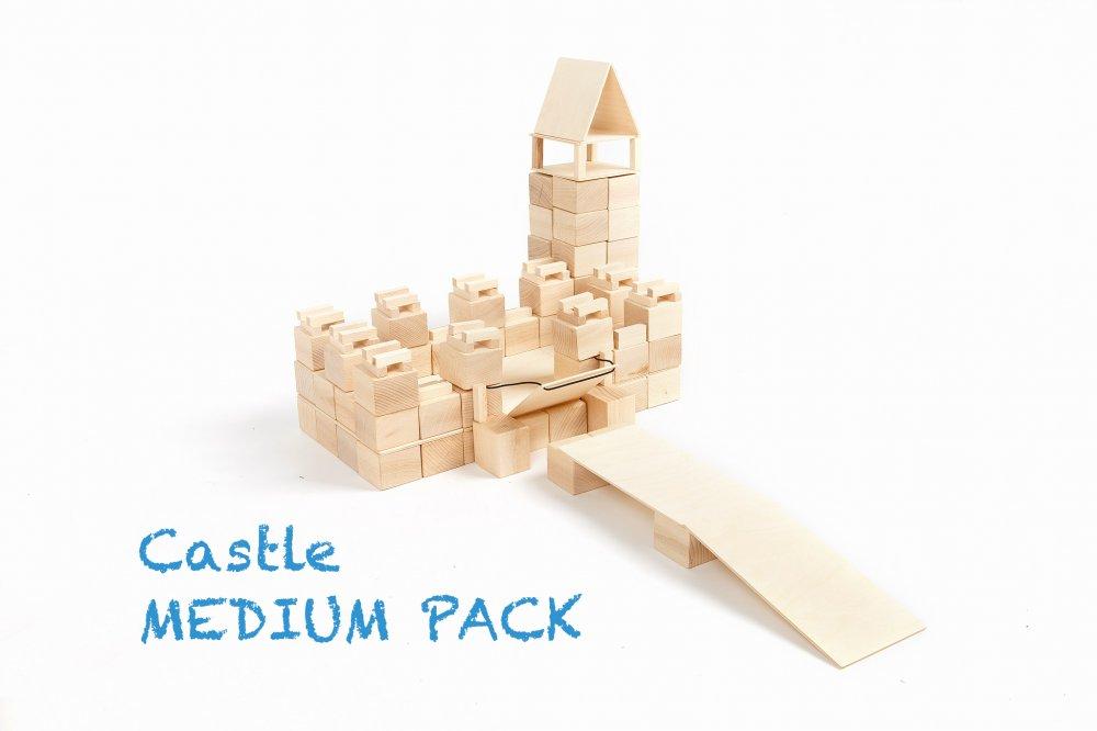 Castle medium pack - Eindeloze creativiteit met JUST BLOCKS, ideaal voor open ended play! + WIN