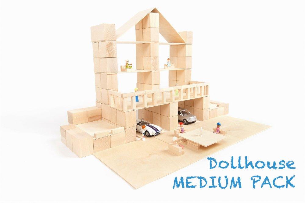 Dollhouse medium pack - Eindeloze creativiteit met JUST BLOCKS, ideaal voor open ended play! + WIN