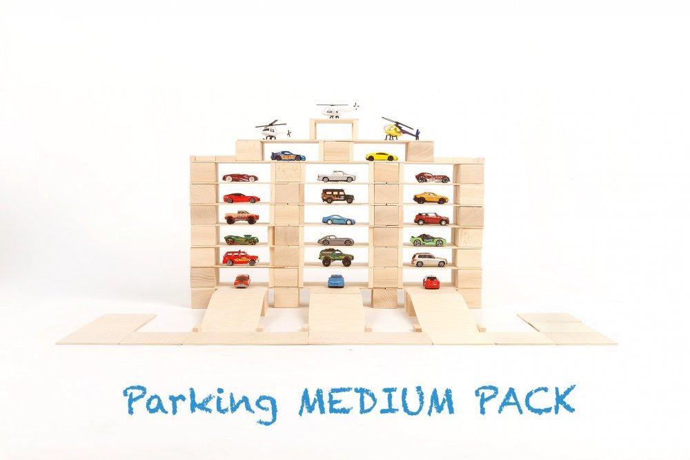 Parking medium pack - Eindeloze creativiteit met JUST BLOCKS, ideaal voor open ended play! + WIN